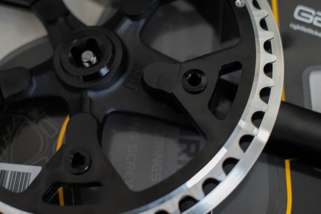 schwarz 50 Z Chainrings Protection Ring LK 110 silber Kettenschutzring 46